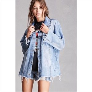 Jackets & Blazers - Distressed denim jacket dress